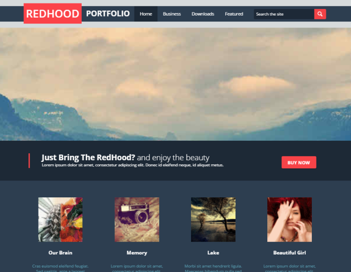 Red Hood Blogger Template