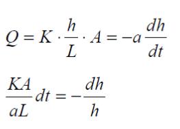 fórmula de caudal