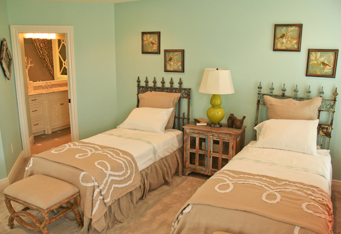 Habitaciones en verde y marr n dormitorios con estilo - Dormitorio verde ...