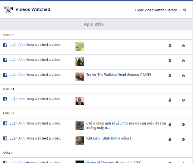 facebook video history