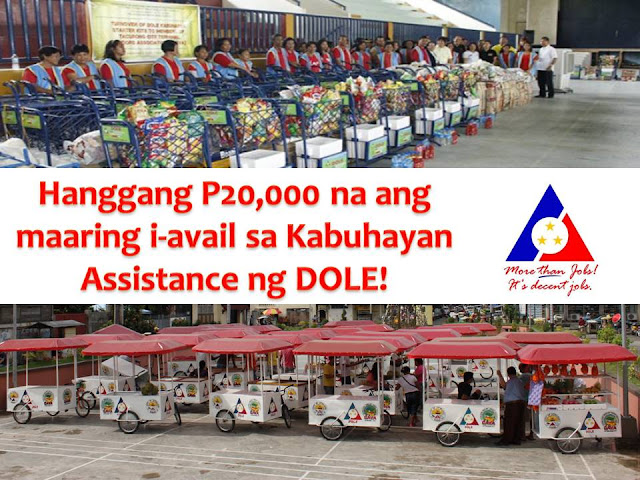 From P10,000, you can now avail up to P20,000 assistance in Kabuhayan Package of Department of Labor and Employment (DOLE) under the Integrated Livelihood and Emergency Employment Program (DILEEP).  DOLE Chief Silvestre Bello III said the increase aims to help vulnerable and marginalized workers, and contribute to poverty alleviation.  What is DILEEP?  It is a contribution of DOLE to the agenda of the government on inclusive growth through massive job generation and substantial poverty reduction and reduces vulnerability to the risk of the poor, vulnerable and marginalized workers.