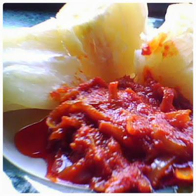 Cara masak ubi rebus cicah sambal tumis ikan bilis