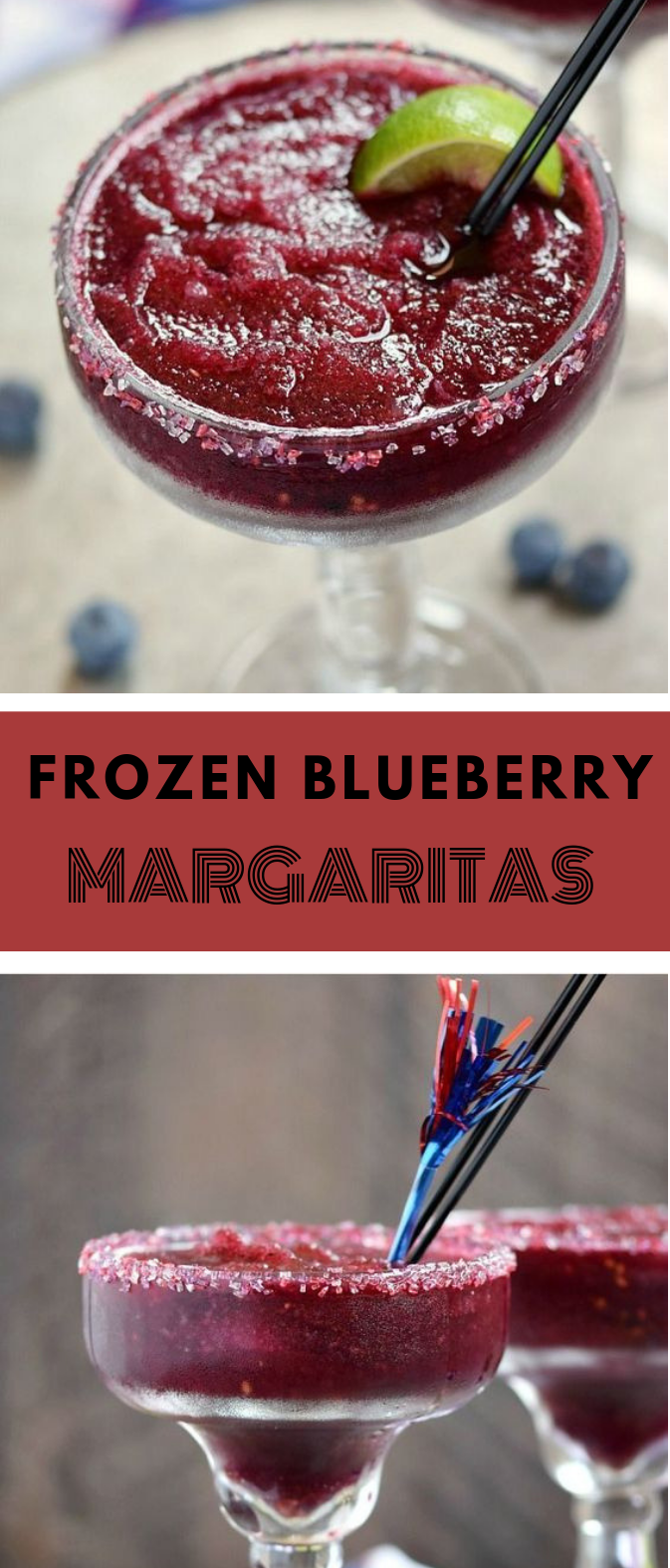 FROZEN BLUEBERRY MARGARITAS #delicious #blueberry