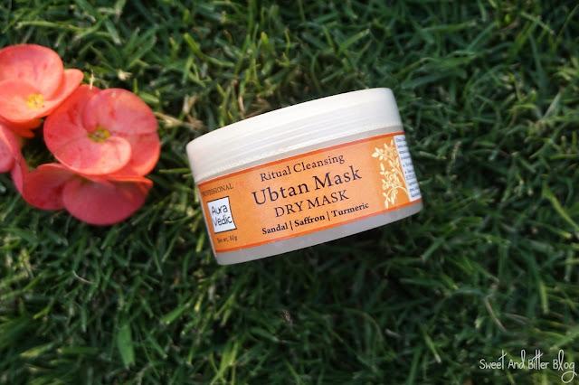 Auravedic Ritual Cleansing Ubtan Dry Mask Sandal Saffron Turmeric Review