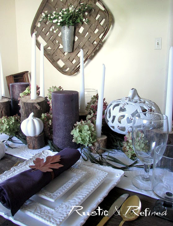 Dining Table Setting for Fall