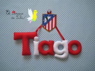nombre-fieltro-Tiago-Atletico-Madrid-felt-feltro-elbosquedelulu-regalo-personalizado-futbol-futbolero-escudo-equipo