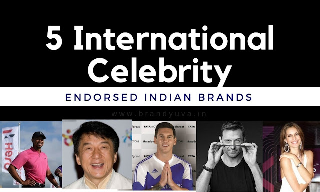 international celebrity endorsed indian brand