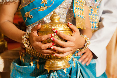 Detail, wedding finery, Kampong Cham, Cambodia