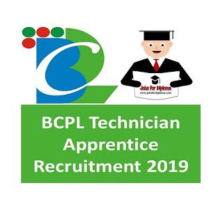 BCPL Apprentice Jobs Recruitment 2019