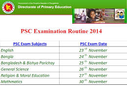 PSC Routine 2016