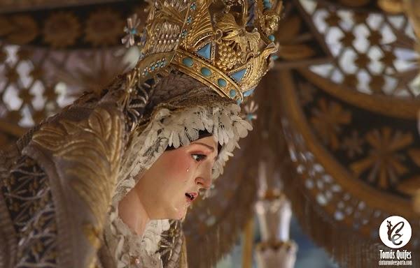 Horarios e Itinerario Rosario vespertino extraordinario de la Virgen de los Ángeles por las calles de la feligresía finalizando en la parroquia de San Roque