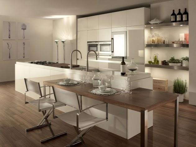 Cocinas de color marrón para una casa moderna