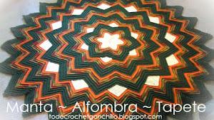 Cómo tejer una manta o alfombra con forma de estrella zig zag / Tutoriales y patrones