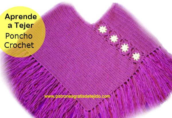Clase magistral en video Poncho crochet paso a paso