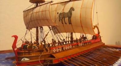 Estampa de barco fenicio