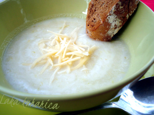 Wisconsin soup by Laka kuharica: deliciously smooth and cheesy.