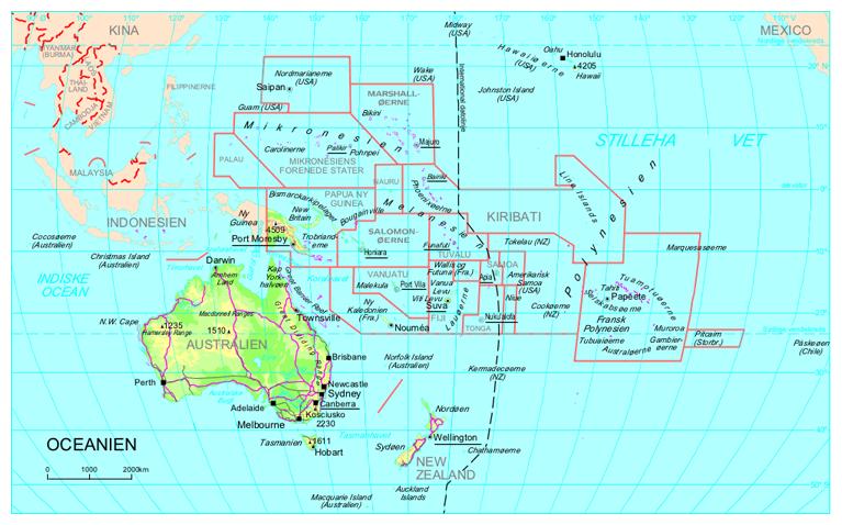 Oceanien | Geografi af Oceanien