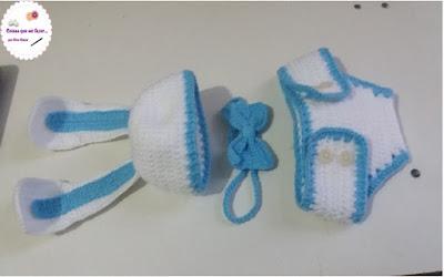 Kit coelhinho menino para foto de newborn