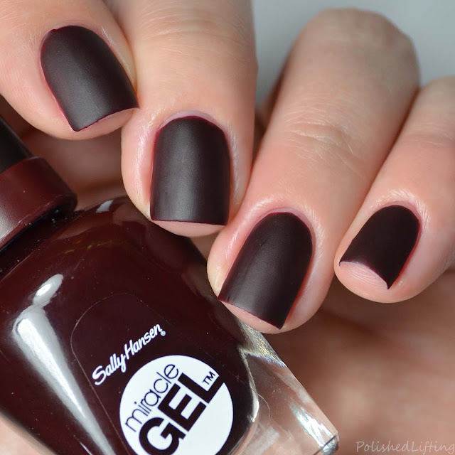 oxblood matte nail polish