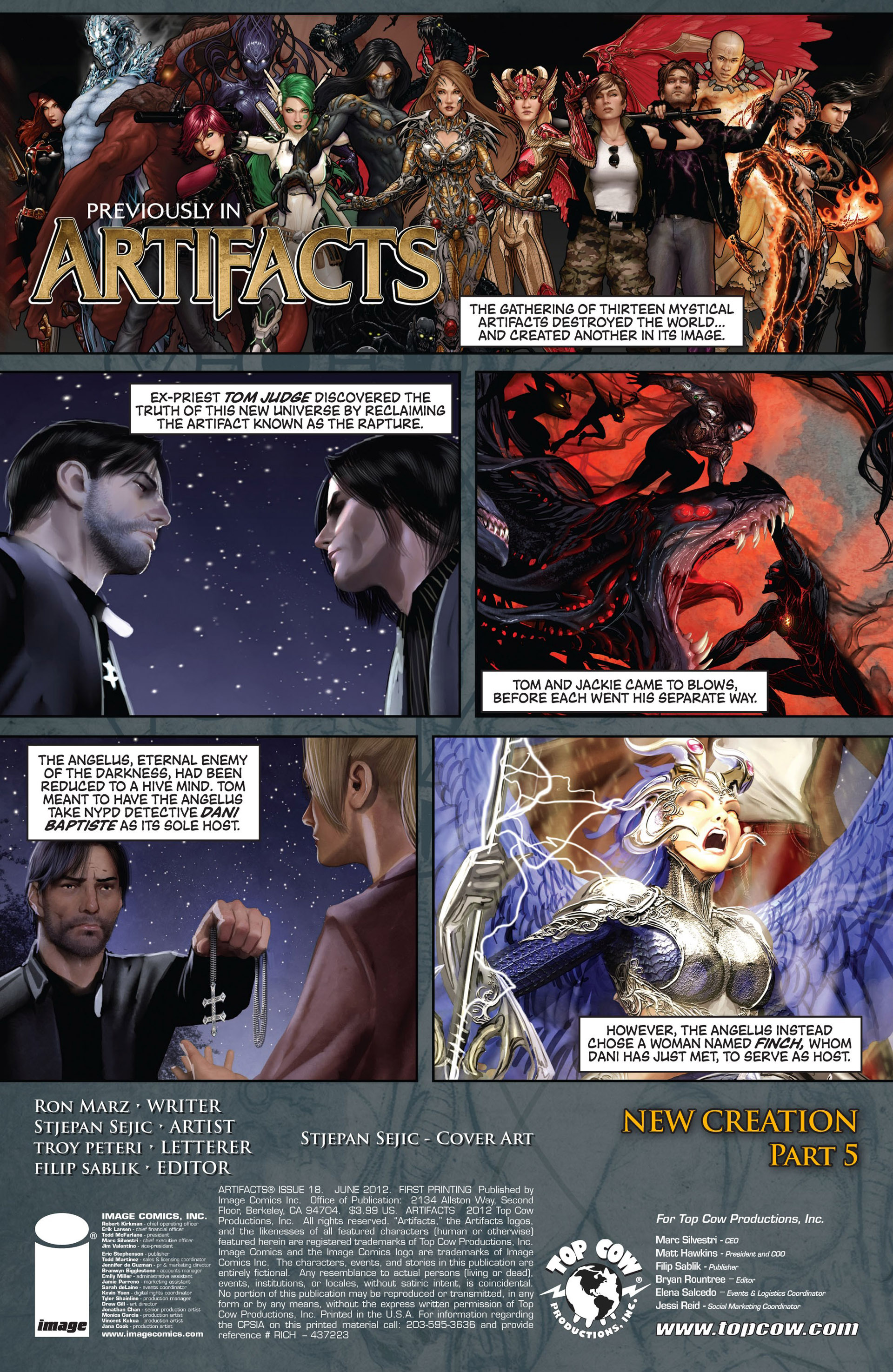 Read online Artifacts comic -  Issue #18 - 2