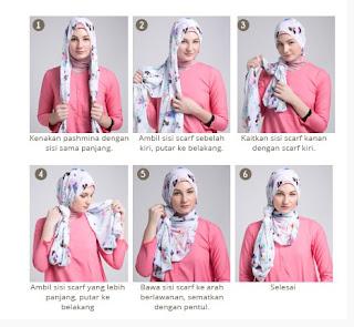 Tutorial hijab scarf segi empat modis