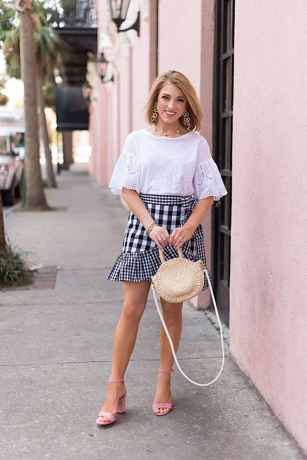 Gingham Wrap Skirt in Charleston, SC. - Something Delightful Blog