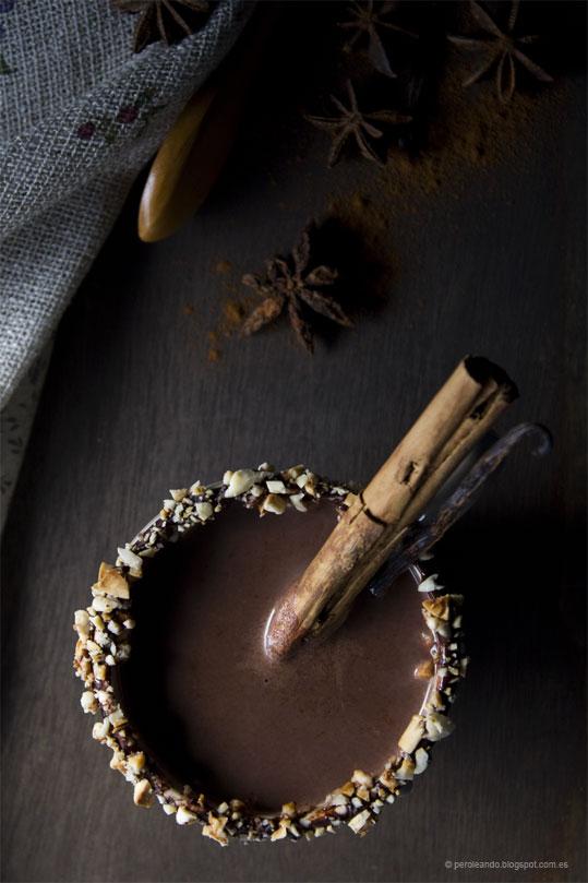 chocolate caliente con vino tinto