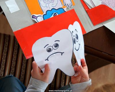 Uśmiechnięty i smutny ząbek - zabawa edukacyjna