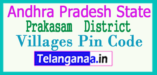 Prakasam District Pin Codes in Andhra Pradesh State