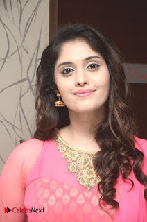 Actress Surabhi Pictures in Pink Dress at Gentleman Success Meet 0005