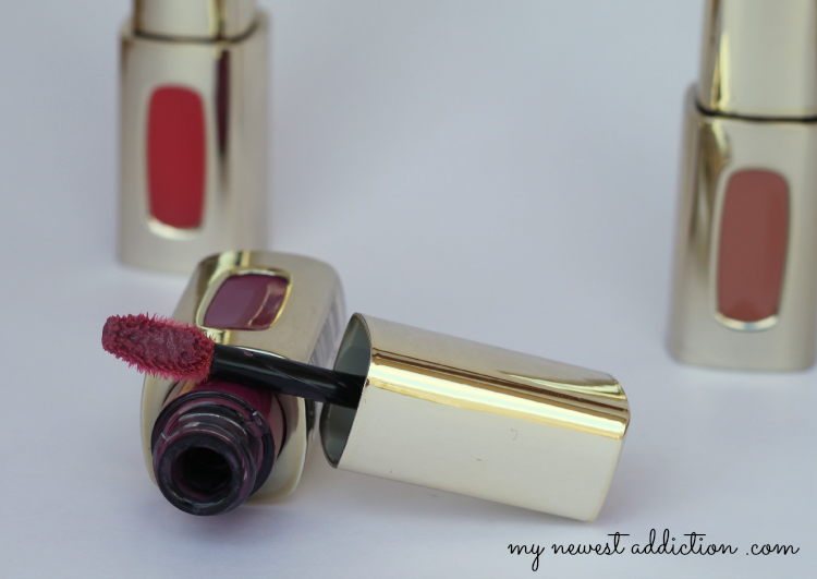L'Oreal lipstick lipgloss color riche extraordinaire liquid swatch review Purple Prelude