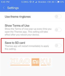 pindahkan file tema ke memori eksternal