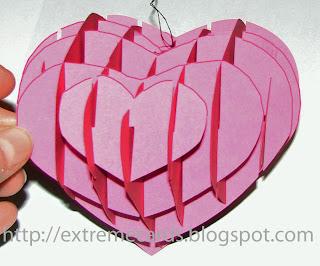 solid sliceform heart