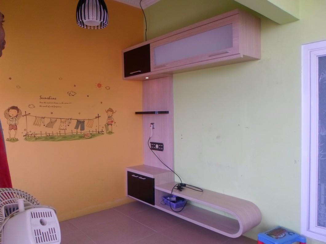 Rak TV Minimalis dan Lemari Gantung - Furniture Semarang