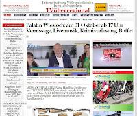 FILMBEITRAG : Palatin Wiesloch: am 01 Oktober ab 17 Uhr Vernissage, Livemusik, Krimivorlesung, Buffet - EINTRITT IST FREI -  TVüberregional LOKALFERNSEHEN WIESLOCH