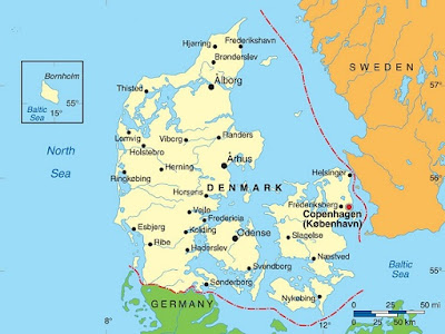 Danmarkskort Byer Billede