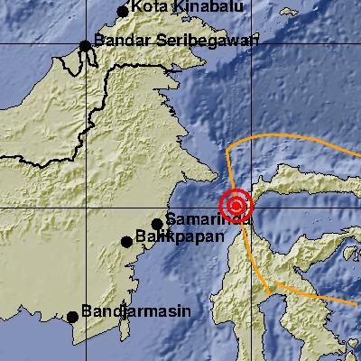 BMKG : Gempa Berkekuatan 5.5 SR, Kembali Terjadi Minahasa Sulteng