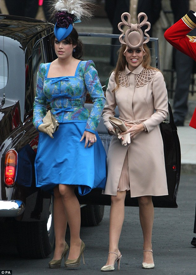 69c79269bb Princesses Beatrice and Eugenie also used the occasion to flex their fashion  muscles