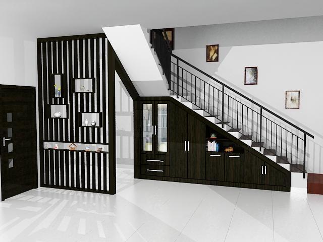 Memanfaatkan Ruang Kosong Di Bawah Tangga Rumah ...