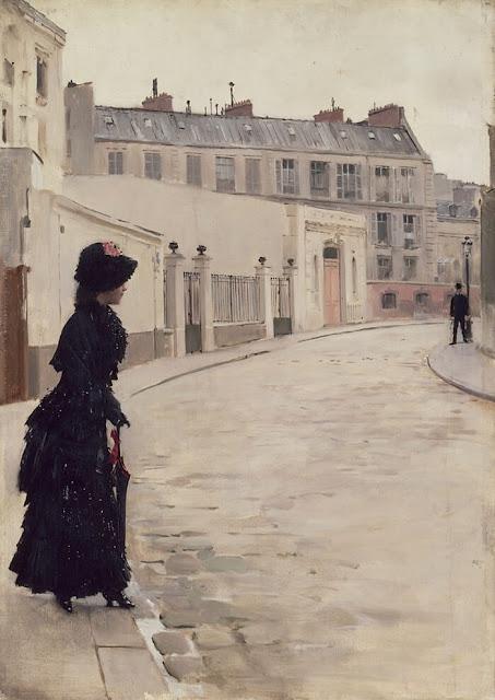 Πίνακας του Jean Béraud, L'Attente, 1880