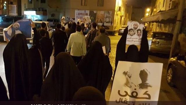 Bahraini protesters condemn hefty sentences for activists