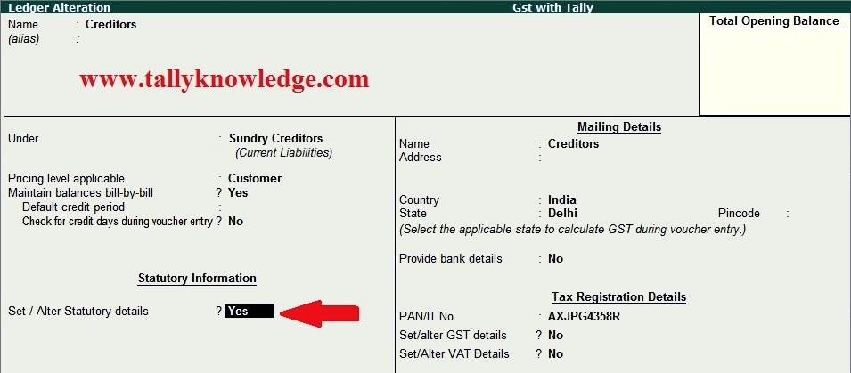 How to Create GST Input Credit TDS Entry in TallyERP 9? - Tally
