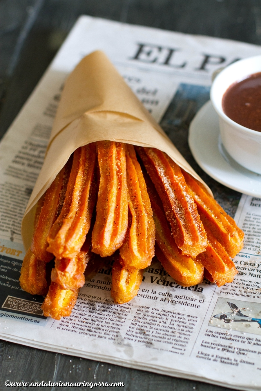 churros con chocolate_easy quick recipe_churros with chocolate_vegan_kosher_Under the Andalusian Sun_foodblog