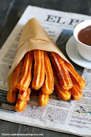 churros con chocolate_helpot churrot appelsiinikastikkeessa_vegaani_resepti_Andalusian auringossa_ruokablogi
