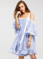 http://fr.shein.com/Contrast-Lace-Vertical-Striped-Frill-Trim-Ribbon-Detail-Dress-p-367683-cat-1727.html