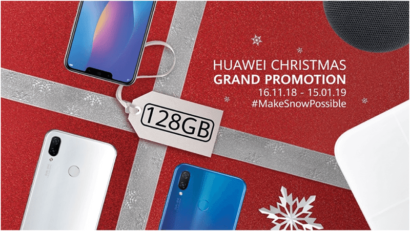The Huawei Grand Christmas Promotion is still on-going