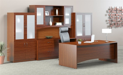 Warm Cherry Executive Desk Home Office Collection: The Office Furniture Blog At OfficeAnything.com: Hot New