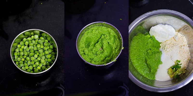 Steamed Gujarati Green peas Snacks