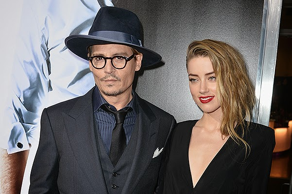 Johnny Depp and Amber Heard at the premiere of '3 Days to Kill'