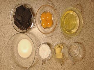 składniki na deser czekoladowy